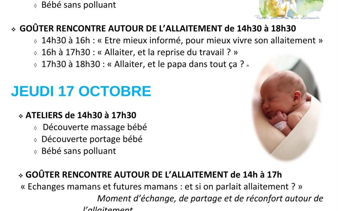 Programme de la Semaine Mondiale de l'allaitement Maternel
